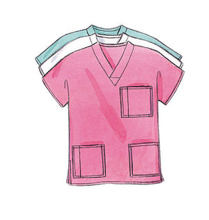B4946 Unisex Medical Uniforms Pattern from Jaycotts Sewing Supplies