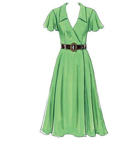 B5030 Misses' Dress, Belt & Sash | Easy