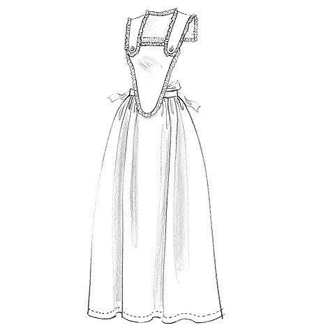 Butterick Sewing Pattern: B5509 Historical Aprons