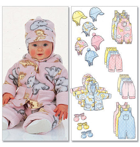 B5584 Infants' Jacket, Overalls, Pants, Hat & Mittens