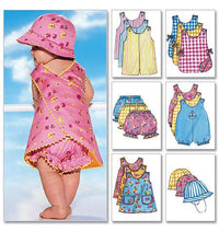 B5625 Infants' Romper, Jumper, Panties & Hat