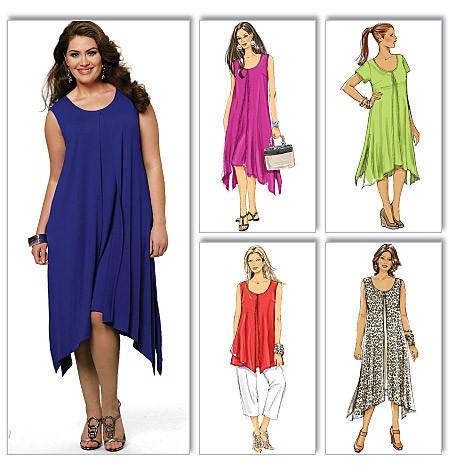style dress patterns in plus