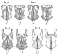B5662 Misses' Historic Corsets