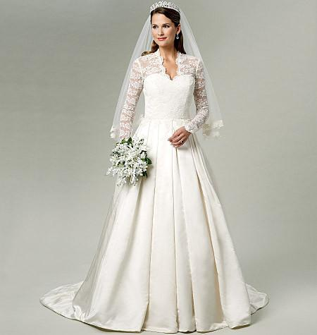 B5731 Misses' Wedding Dress