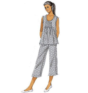 B5792 Misses' nightwear sewing pattern Top, Gown & Pants from Jaycotts Sewing Supplies