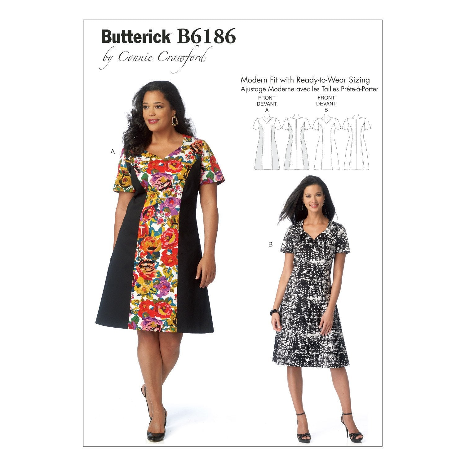 B6186 Misses' / Women's Dress