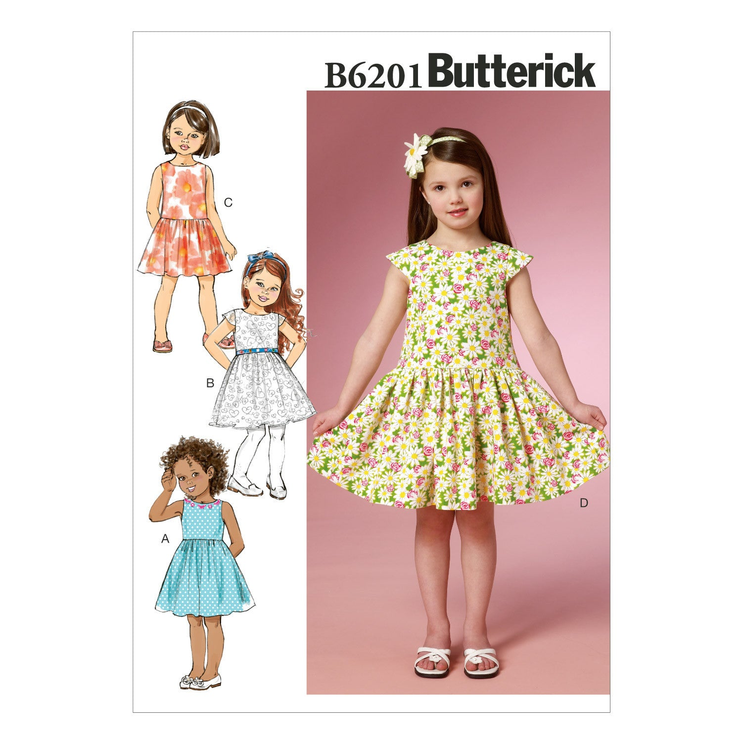 B6201 Children's/Girls' Dress