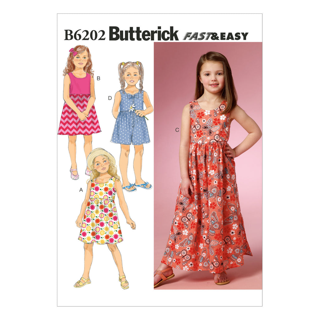 B6202 Children's/Girls' Dress and Culottes from Jaycotts Sewing Supplies