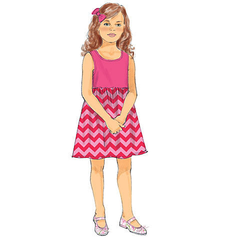 B6202 Children's/Girls' Dress and Culottes