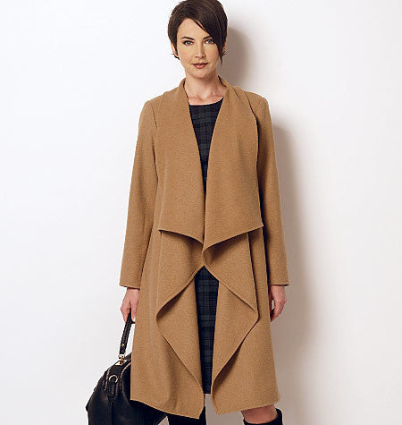 B6244 Misses'/Women's Coat and Dress