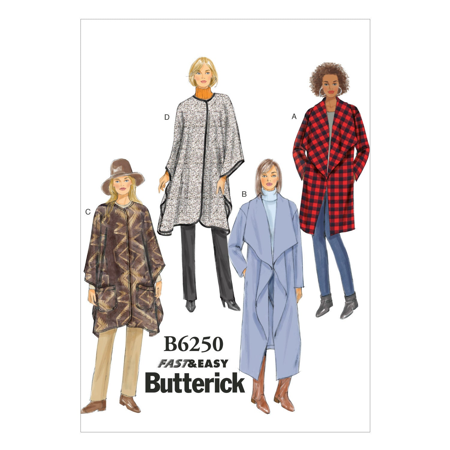 B6250 Misses' Jacket, Coat and Wrap