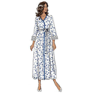 B6300  Misses' / Women's Robe, Belt and Negligee