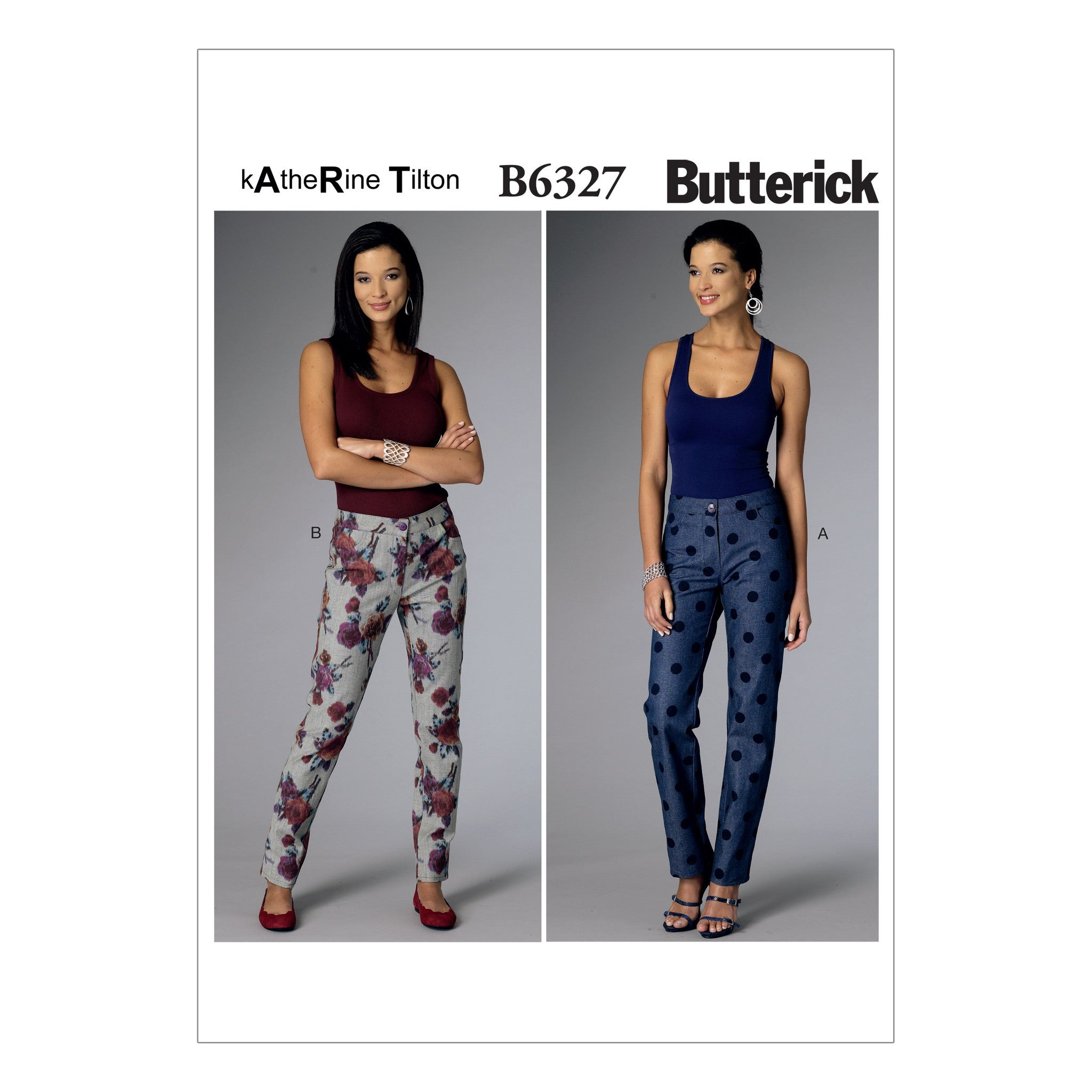 B6327 Misses' Tapered Pants