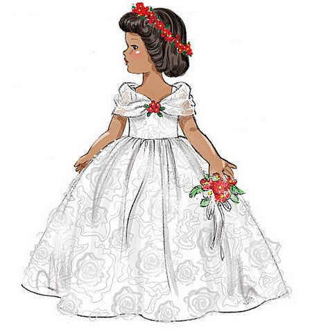 "B6336 Retro Outfits for 18"" Doll"
