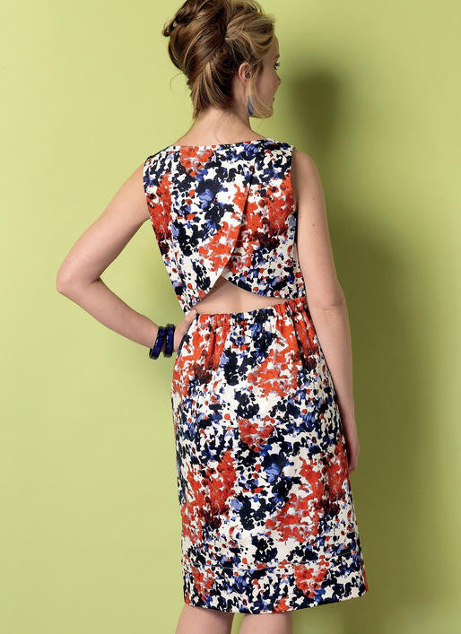 B6351 Open-Back, Tulip-Detail Dresses and Jumpsuit