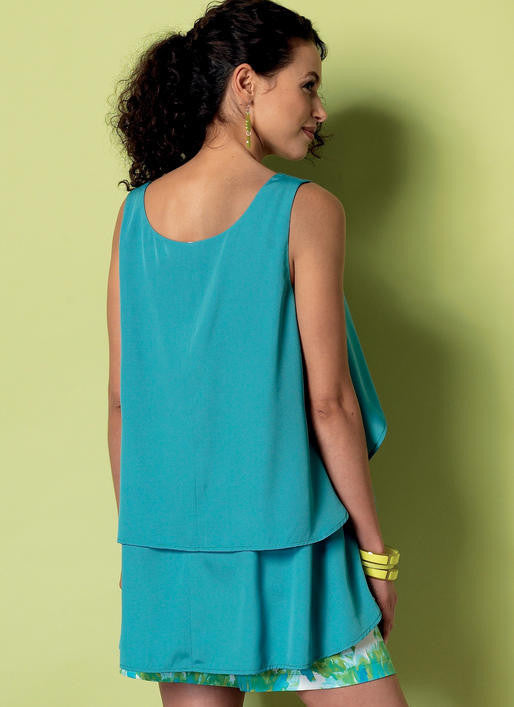 B6355 Overlay, Cold Shoulder or Notch-Neck Top