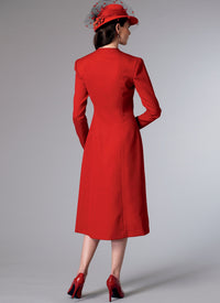 B6374 Misses' Swan-Neck or Shawl Collar Dresses with Asymmetrical Gathers