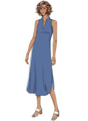B6551 Loose fitting dress pattern