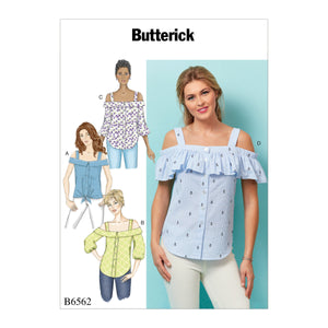B6562 Misses's Summer Tops Pattern from Jaycotts Sewing Supplies