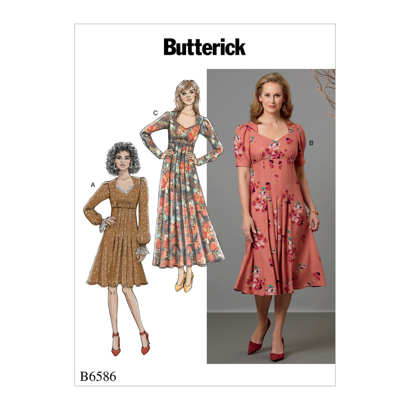 B6586 Misses' Dress Pattern from Jaycotts Sewing Supplies