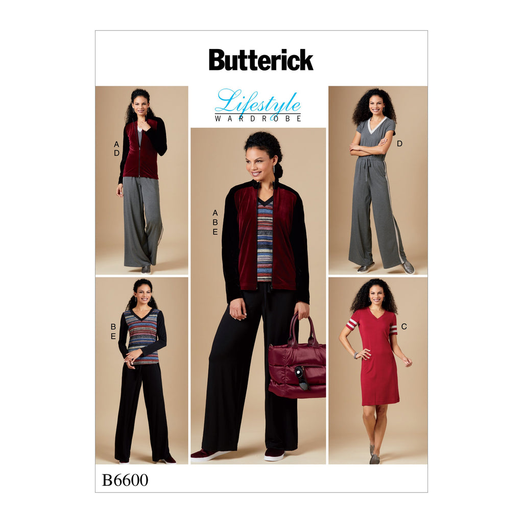 B6600 Jacket, Top, Dress, Jumpsuit and Pants Pattern