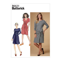 Butterick B6621 Misses' Dress sewing pattern from Jaycotts Sewing Supplies