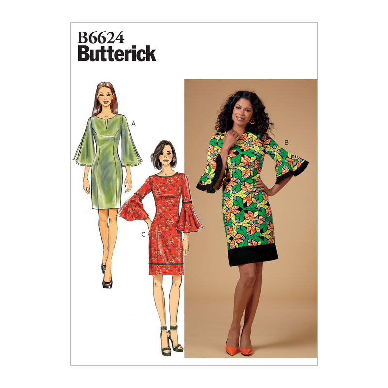 Butterick B6624 Misses'/ Women's/ Petite Dress sewing pattern