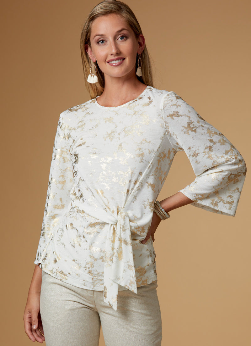 Butterick B6628 Misses' Top sewing pattern