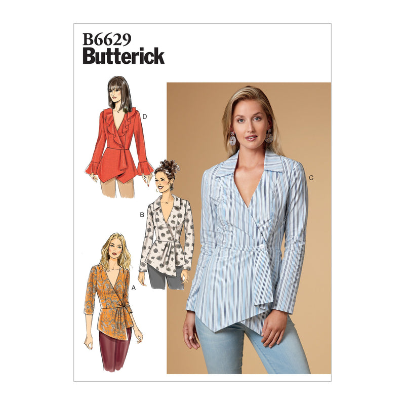 Butterick B6629 Misses' Top sewing pattern