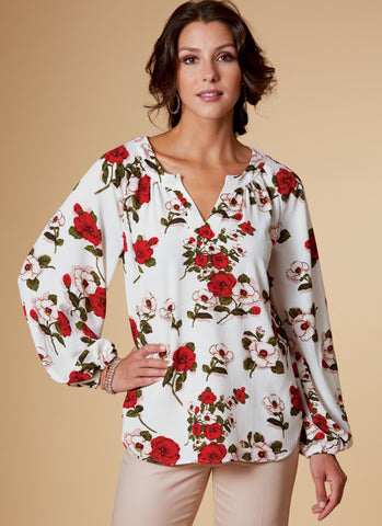 Butterick B6632 Misses' Top sewing pattern