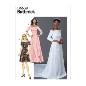 Butterick B6639 Bridal Dress sewing pattern from Jaycotts Sewing Supplies