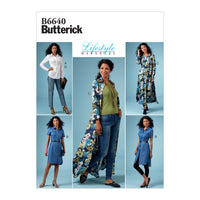 Butterick B6640 Misses'/ Petite Top, Dress and Pants pattern from Jaycotts Sewing Supplies