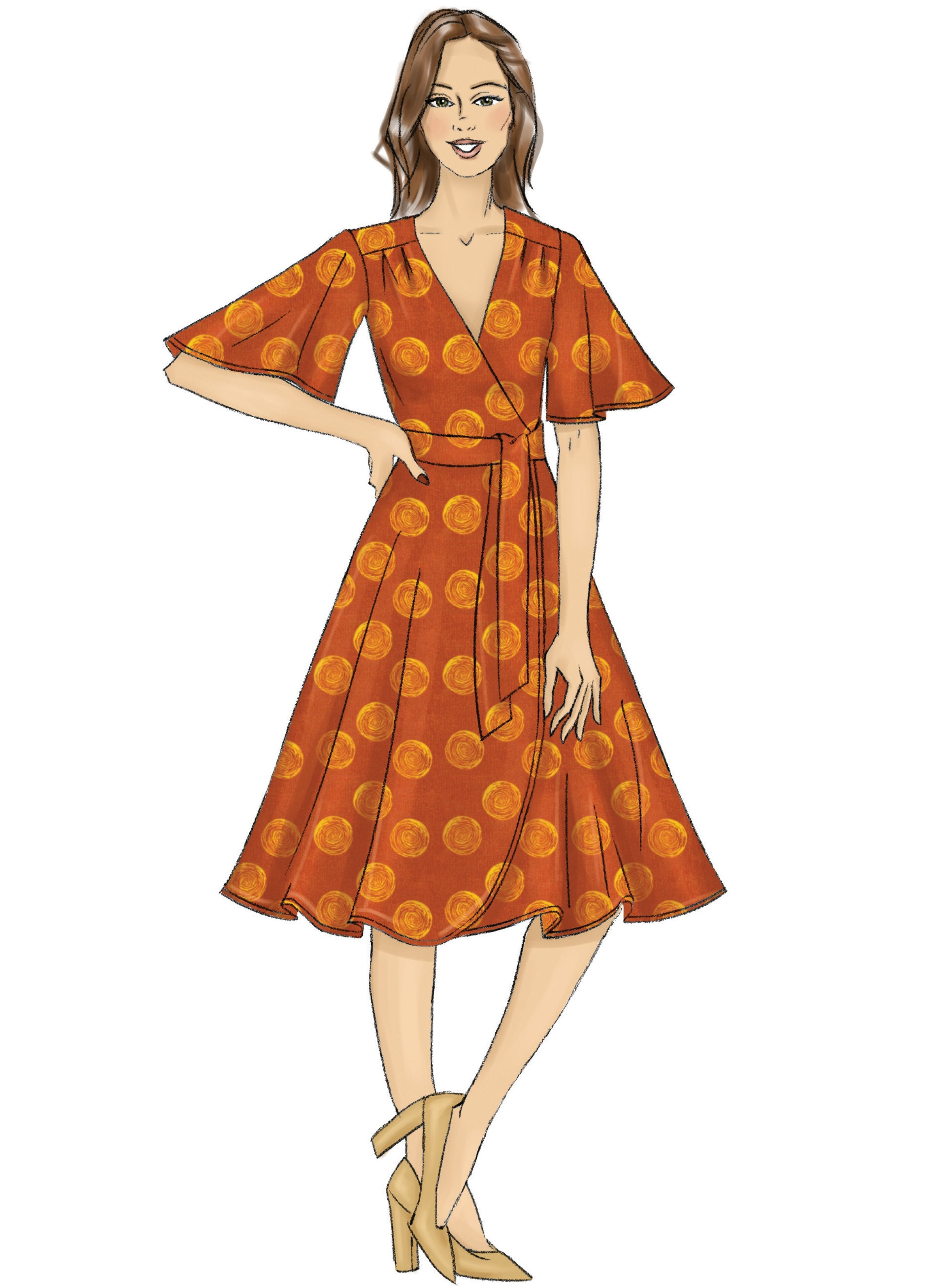 Butterick B6654 Girl's Dress and Sash Sewing Pattern