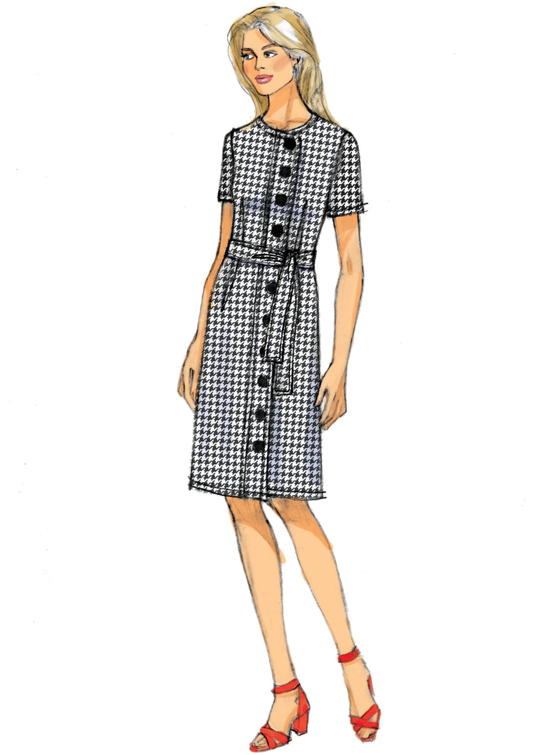 Butterick B6655 / Petite Dress and Sash Sewing Pattern from Jaycotts Sewing Supplies