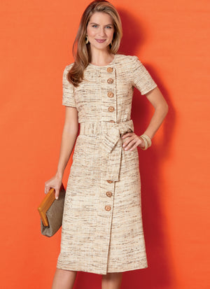 Butterick B6655 / Petite Dress and Sash Sewing Pattern