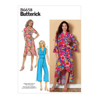 Butterick B6658  Dress, Jumpsuit and Sash Sewing Pattern