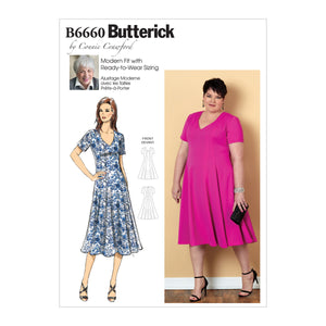 Butterick B6660 Misses / Womens Dress Sewing Pattern from Jaycotts Sewing Supplies