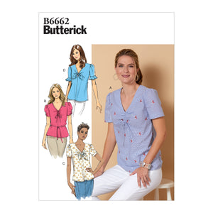 Butterick B6662  Top and Tie Sewing Pattern from Jaycotts Sewing Supplies