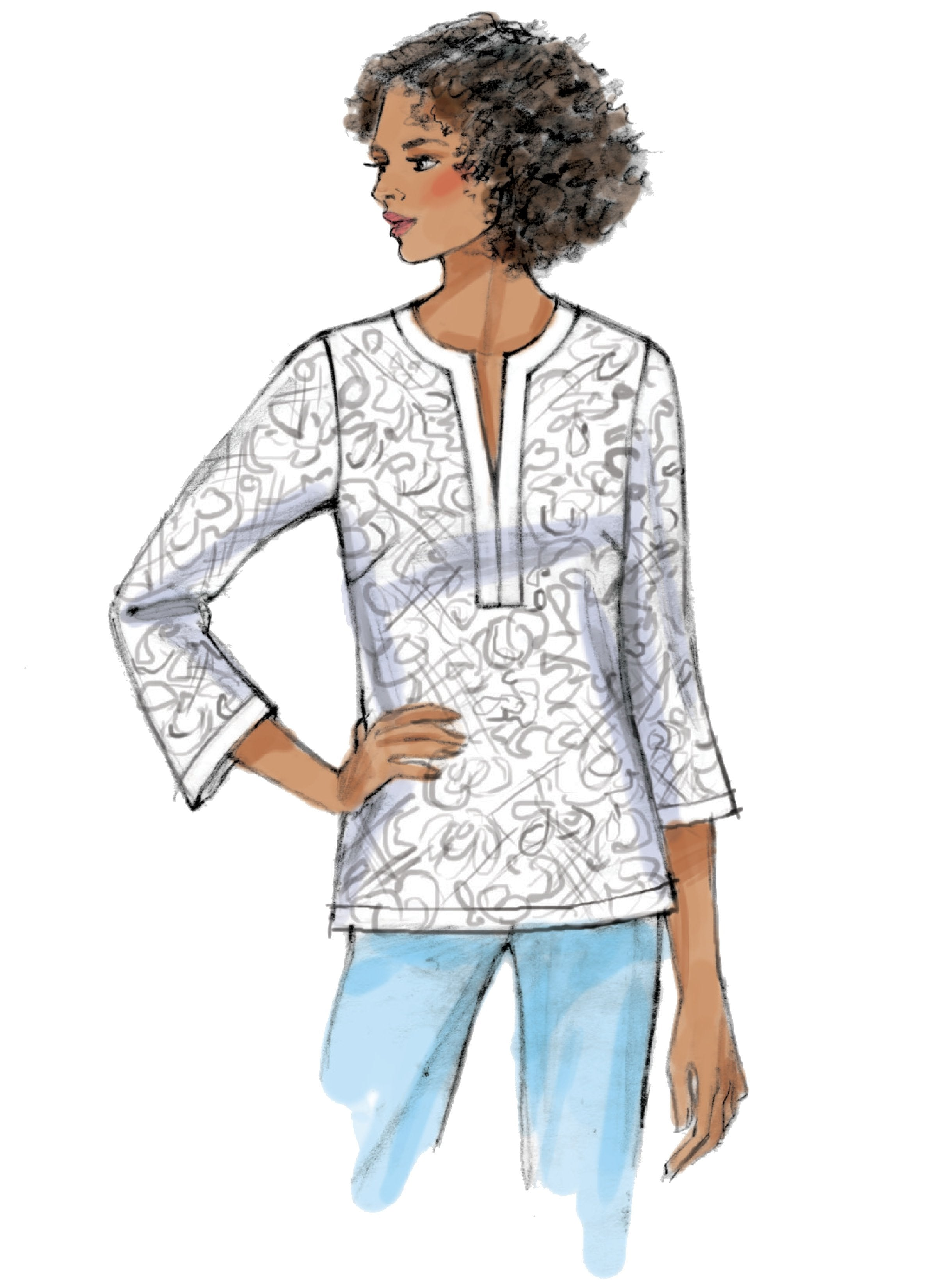 Butterick B6666 Top Sewing Pattern