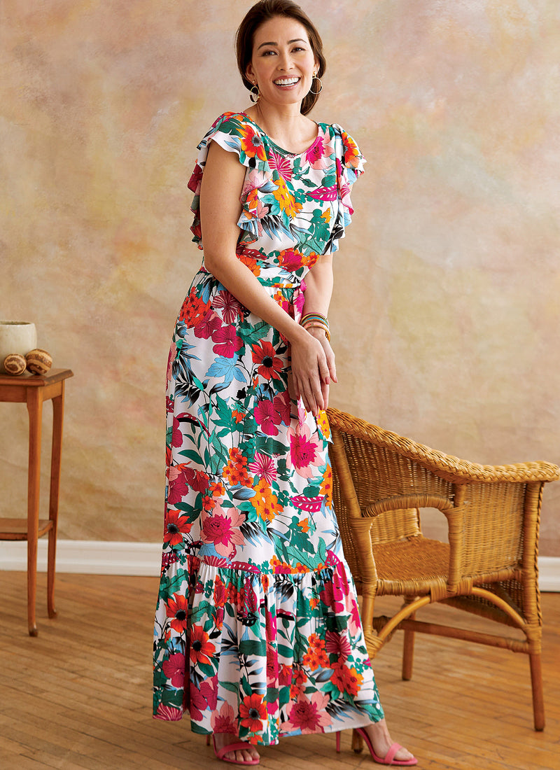 Butterick B6677 Misses' Long Dress Pattern | Easy from Jaycotts Sewing Supplies