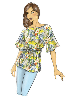 Butterick B6685 Misses' Top and Sash | Very Easy