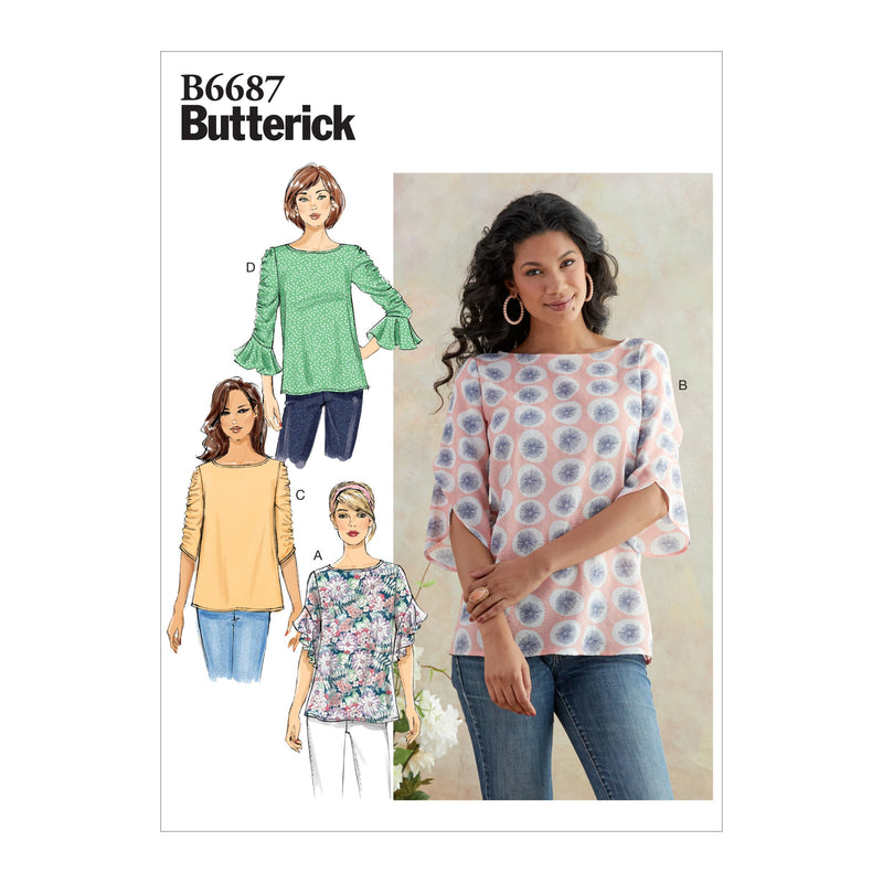 Butterick B6687 Misses' Top | Easy from Jaycotts Sewing Supplies
