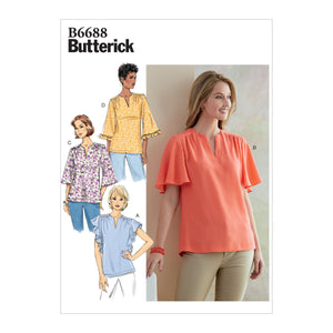 Butterick B6688 Misses' Tops | Easy