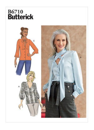 Butterick Sewing Pattern 6710 Top from Jaycotts Sewing Supplies