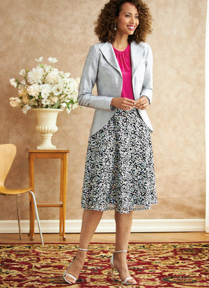 Butterick 6718 Jacket, Dress, Top, Skirt, Pants Pattern