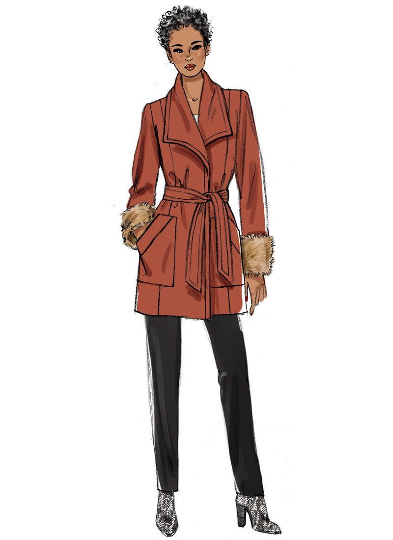 Butterick 6720 Misses / Petite Overcoat Pattern from Jaycotts Sewing Supplies