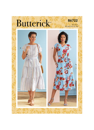 Butterick Sewing Pattern 6722 Misses' Dresses from Jaycotts Sewing Supplies