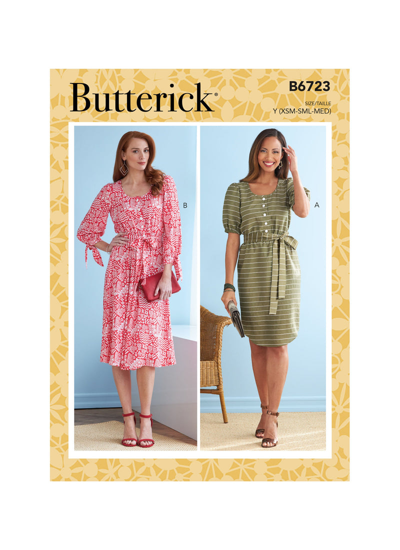 Butterick Sewing Pattern 6723 Misses' Dresses from Jaycotts Sewing Supplies