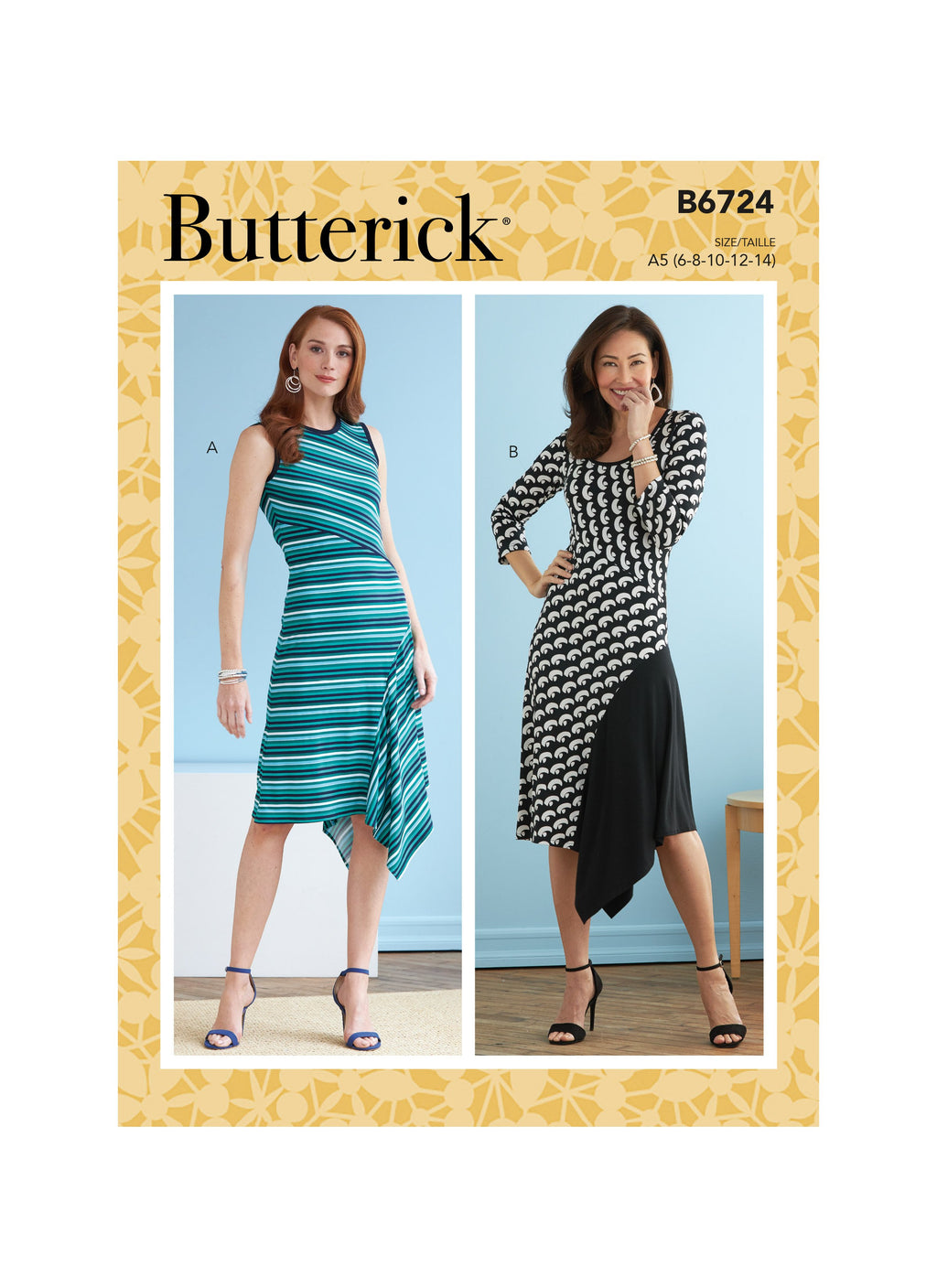 Butterick Sewing Pattern 6724 Misses' Dresses