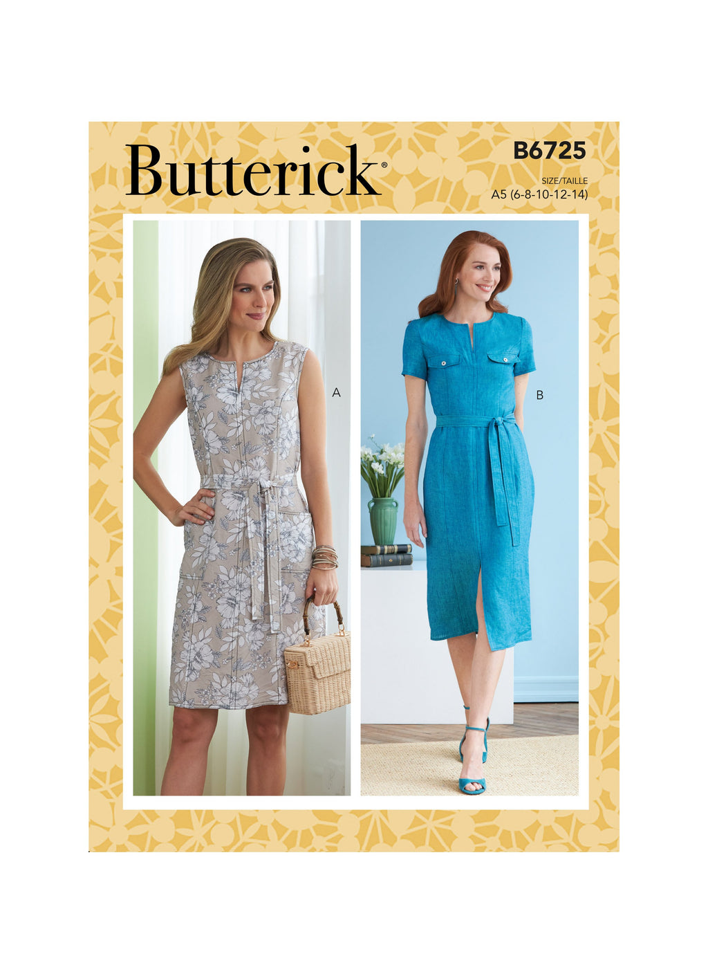 Butterick Sewing Pattern 6725 Misses' Dresses